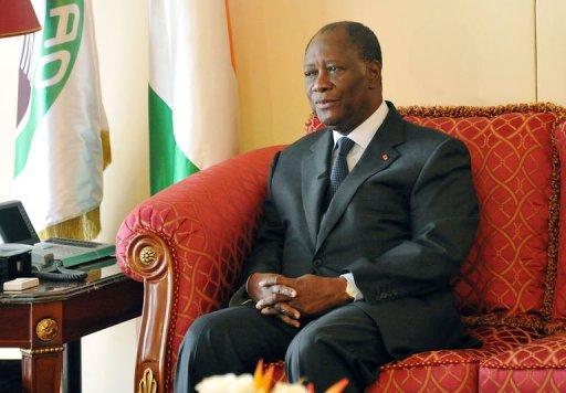 Le président ivoirien Alassane Ouattara, le 14 novembre 2012 à Abidjan AFP Sia Kambou
