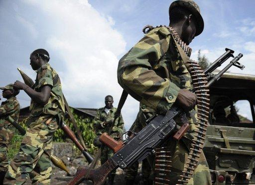 Les rebelles du M23 à Goma, le 23 novembre 2012 en RDC AFP/Archives Tony Karumba