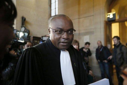 Fabien Ndoumou, l'avocat de la famille de Firmin Mahé, le 27 novembre 2012 au Palais de justice de Paris AFP Kenzo Tribouillard
