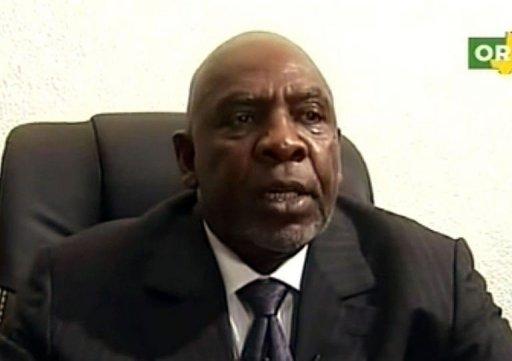 Capture d'image de la télévision ORTM montrant le Premier ministre malien Cheick Modibo Diarra annonçant sa démission, le 11 décembre 2012 à Bamako ORTM/FP