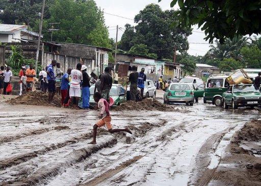 Une rue de Makelele, à Brazzaville, le 10 décembre 2012 AFP Guy-Gervais Kitina