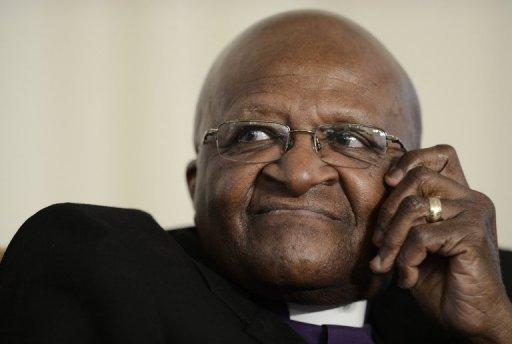 L'ancien archevêque anglican sud-africain Desmond Tutu, prix Nobel de la paix, le 6 novembre 2012 à Johannesburg AFP/Archives Stephane de Sakutin
