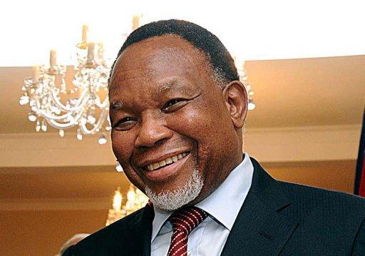 Le vice-président sud-africain Kgalema Motlanthe, le 3 novembre 2011 à Pretoria Gouvernement sud-africain/AFP/Archives Elmonde Jiyane