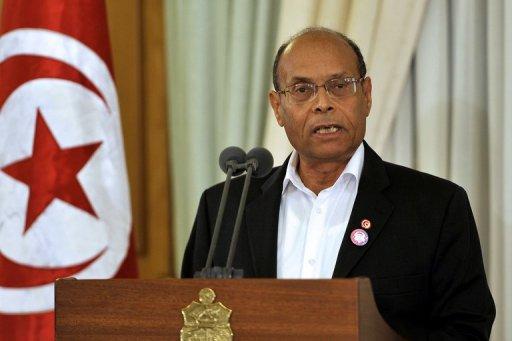 Le président tunisien Moncef Marzouki, le 8 décembre 2012 à Tunis AFP/Archives Fethi Belaid