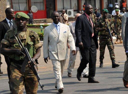 Le président centrafricain François Bozizé, le 30 décembre 2012 à Bangui AFP Sia Kambou