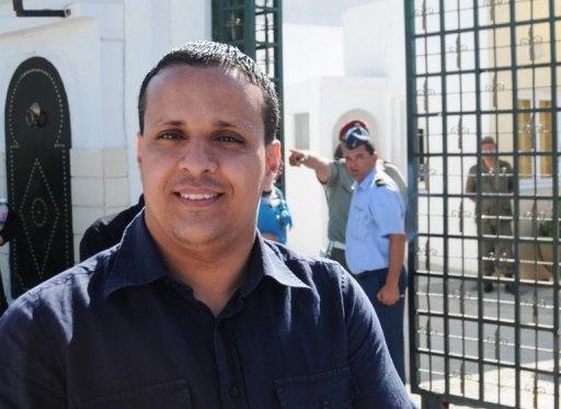 Ayoub Messaoudi, ancien conseiller de presse du président Moncef Marzouki, le 30 août 2012 à Tunis AFP/ Archives Salah Habibi