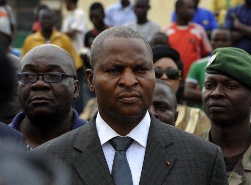 Le Premier ministre Faustin Archange Touadera participe à une manifestation pour la paix, dans les rues de Bangui, le 9 janvier 2013 AFP/Archives Sia Kambou