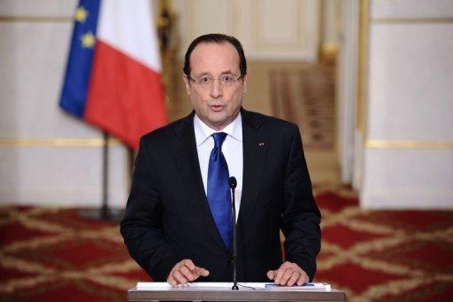 François Hollande depuis l'Elysée, le 12 janvier 2013 AFP Lionel Bonaventure