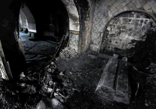 La mausolée de la banlieue de Tunis, à Sidi Bou Saïd, le 13 janvier 2013 AFP Fethi Belaid