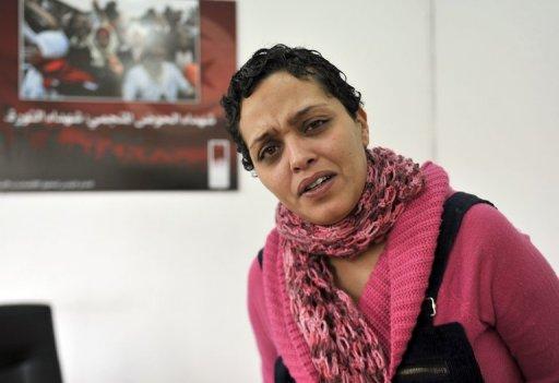 La blogueuse tunisienne Olfa Riahi, le 7 janvier 2013 à Tunis AFP/Archives Fethi Belaid