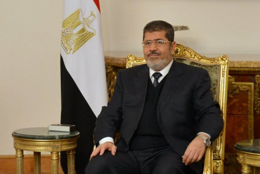 Le président égyptien Mohamed Morsi, le 8 janvier 2013 au Caire AFP/Archives Khaled Desouki