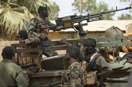 Des soldats maliens à Diabali, le 26 janvier 2013 AFP Eric Feferberg