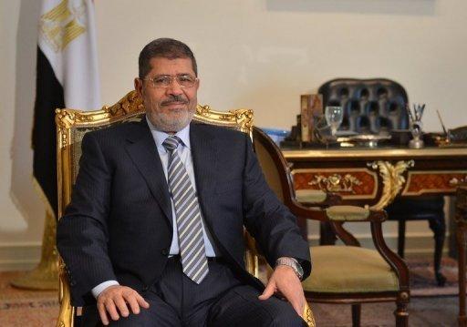 Le président égyptien Mohamed Morsi le 10 janvier 2013 au Caire AFP/Archives Khaled Desouki