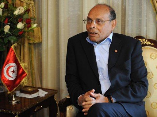 Le président tunisien Moncef Marzouki, le 20 février 2013 à Tunis AFP/Archives Fethi Belaid
