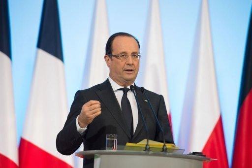 Le président français François Hollande, le 6 mars 2013 à Varsovie AFP Bertrand Langlois