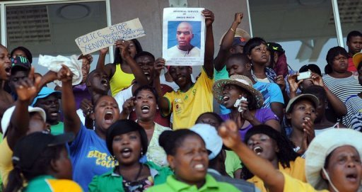Hommage à Mido Garcia, le 6 mars 2013 à Daveyton en Afrique du Sud AFP Alexander Joe
