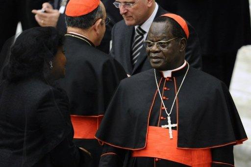 Le cardinal de Kinshasa, Laurent Monsengwo, le 22 novembre 2010 au Vatican AFP/Archives Vincenzo Pinto
