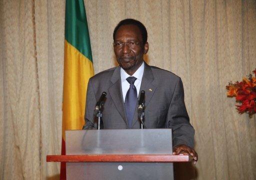 Le président par intérim malien Dioncounda Traoré le 11 janvier 2013 à Bamako AFP/Archives Habibou Kouyate