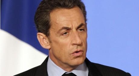 Nicolas Sarkozy présente ses voeux à l'Elysée, le 1er janvier 2011. REUTERS/Christophe Ena/Poolprésente