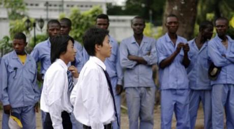 Photo: China Railways Enginnering Company  à Kinshasa le 29 mars 2010. Reuters/Katrine Manson