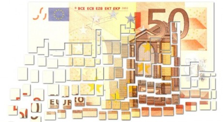 Cut Fifty Euro Note - Floating Away in Small Pieces - € - nemesis 91 via Flickr CC