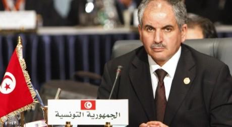 L'ambassadeur de Tunisie en Egypte au sommet économique arabe le 19 janvier 2011. REUTERS/Asmaa Waguih