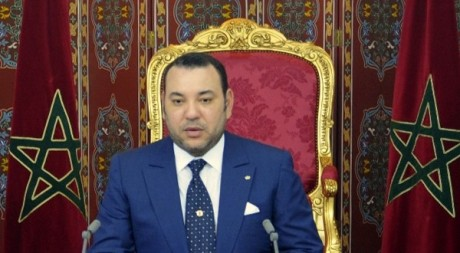 Discours de Mohammed VI à Tanger le 30 juillet 2009 pour les dix ans de son règne. REUTERS/Ho New