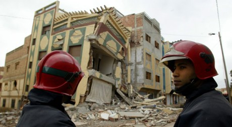 Région d'Al Hoceïma en février 2004, après le dernier fort séisme qui a touché le Maroc. Reuters/Andrea Comas