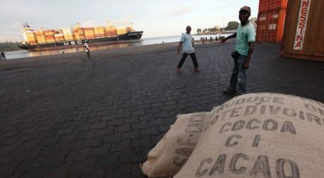 San Pedro, grand port d'exportation du cacao de Côte d'Ivoire et objectif stratégique dans le conflit. Reuters/Luc Gnago
