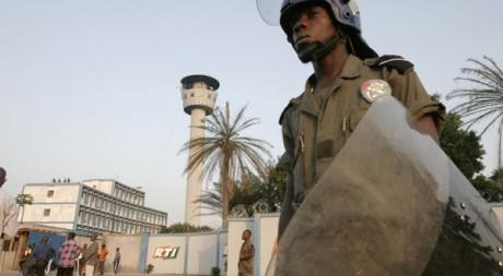 Le siège de la RTI dans le quartier de Cocody, à Abidjan. Reuters/Thierry Gouegnon