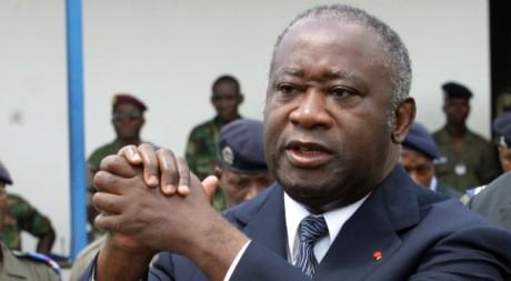 Laurent Gbagbo à Abidjan, le 15 novembre 2003. REUTERS/Luc Gnago