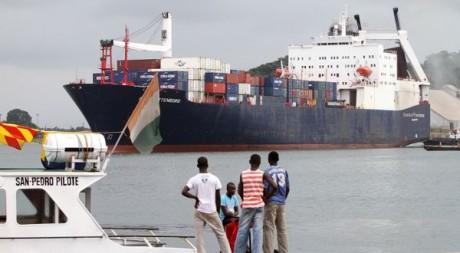 Le port de San Pedro, Côte d'Ivoire, le 2 octobre 2010. REUTERS/Luc Gnago