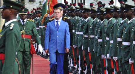 Le président russe Dmitri Medvedev à Abuja, au Nigéria , en juin 2009. REUTERS/Afolabi Sotunde
