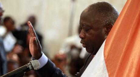 Laurent Gbagbo lors de sa présentation de serment en décembre 2010. Reuters/Thierry Gouegnon
