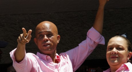 Michel Martelly le jour de l'élection présidentielle, le 20 mars, à Port-au-Prince. Reuters/Eduardo Munoz