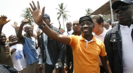 Charles Blé-Goudé lors d'un meeting de soutien à Laurent Gbagbo en 2010. Reuters/Luc Gnago
