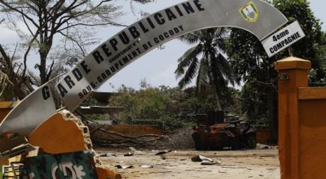 Base militaire de la résidence présidentielle d'Abidjan où Laurent Gbagbo a été arrêté. Reuters/Finbarr O'Reilly