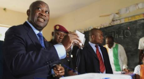 Laurent Gbagbo le jour de l'élection du 28 novembre 2010. REUTERS/Thierry Gouegnon