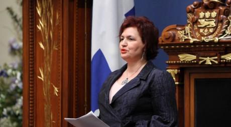 Fatima Houda-Pepin lors d'une allocution à l'Assemblée nationale du Québec © Tous droits réservés.