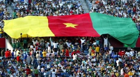 Des supporters camerounais lors de la Coupe du monde 2002 au Japon. REUTERS/Mark Baker