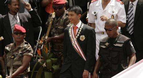 L'investiture d'Andry Rajoelina boycottée par les diplomates étrangers, Antananarivo, 21 mars 2009. REUTERS/Siphiwe Sibeko