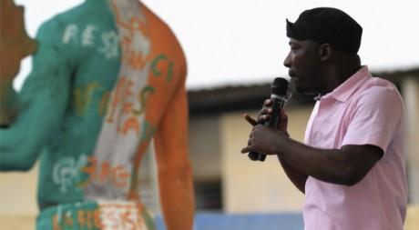 Charles Blé Goudé lors d'un meeting électoral à Abidjan le 30 décembre 2010. REUTERS/Thierry Gouegnon