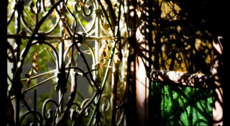 Light through an iron shutter by Geraint Warlow via Flickr CC