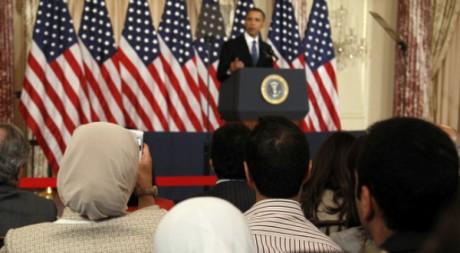 Le président Barack Obama lors de son discours à Washington le 19 mai 2011. REUTERS/Jason Reed