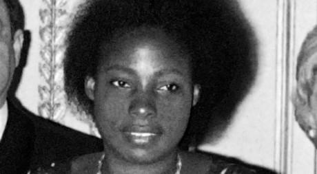 Agathe Habyarimana à l'Elysée en 1977. AFP/STF