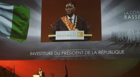 Investiture d'Alassane Ouattara le 21 mai à Yamoussoukro. REUTERS/Luc Gnago