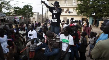 Concert du collectif Y'en a marre, à Dakar, le 18 juin 2011. REUTERS/Finbarr O'Reilly