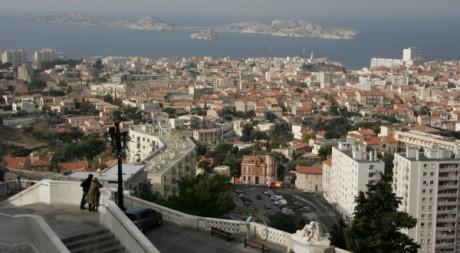 Vue de Marseille depuis la basilique Notre Dame de la Garde © Anne-Christine Poujoulat/ AFP