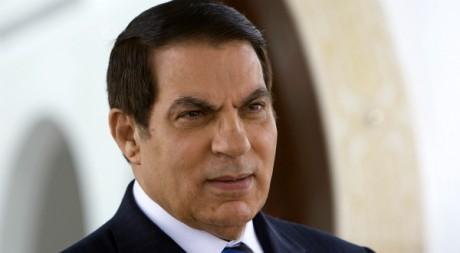 Zine el-Abidine Ben Ali à l'aéroport de Tunis Carthage en 2008. REUTERS/Jacky Naegelen