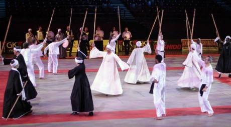 Démonstration de tathib au 25e festival des arts martiaux de Bercy, en 2010. © Anaïs Heluin, tous droits réservés